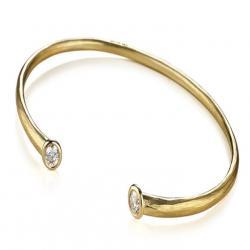 Whisper Cuff Bracelet in Gold with Diamonds