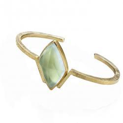 Aquamarine Cuff in Gold
