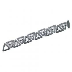 carved triangle bracelet