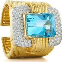 david webb, inc.	couture - aquamarine cuff