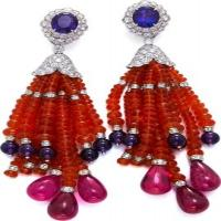 Couture - tassel earrings