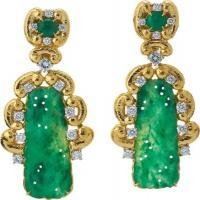 david webb, inc.	scroll jade earrings