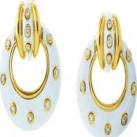 david webb, inc.	stud doorknocker earrings