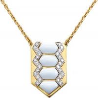 david webb, inc.	shield necklace