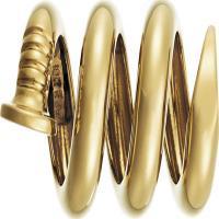 spiral nail pendant - polished
