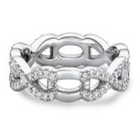 Ritani Women's Half-Diamond Twist Wedding Band