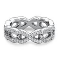 Ritani Women's Diamond Twist Wedding Band