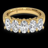 Ritani Women's Five-Stone Diamond Wedding Ring