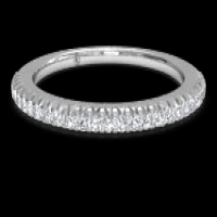 Ritani Women's Open Micropavé Diamond Wedding Ring