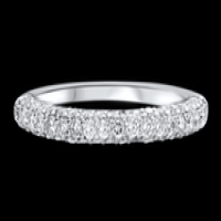 Ritani Masterwork Three Row Pavé Wedding Ring