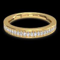women's micropavé diamond eternity wedding ring