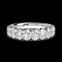 masterwork single row shared prong round cut diamond band