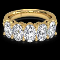 Women's Five-Stone Diamond Wedding Ring