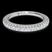 women's open micropavé diamond eternity wedding ring