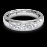 women's channel-set diamond wedding ring
