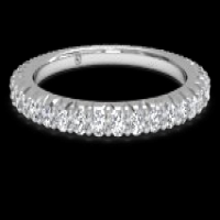 ritani women's open micropavé diamond eternity wedding ring