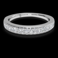 Women's micropavé diamond wedding ring