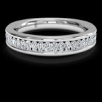Women's channel-set diamond wedding ring