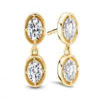 ritani two stone diamond drop earrings