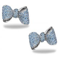 ritani bow sapphire stud earrings (mini)