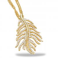 phoenix feather all pave pendant