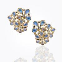 18k lotus earrings in royal ...