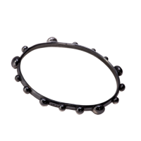 glossy black studded bangle
