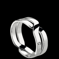 Damiani White gold ring