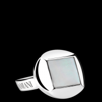 Silver and mother-of-pearl cufflinks