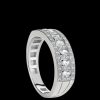 Damiani white gold and diamond ring