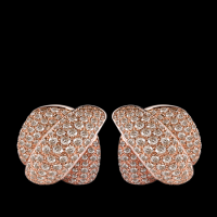 Pink gold earrings with brown diamonds