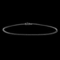 Tennis bracelet in black gold and black diamonds