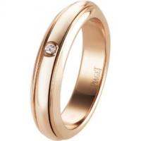 Rose gold diamond ring Band width: 4.5 mm