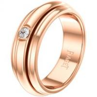 Rose gold diamond ring Band width: 6.2 mm