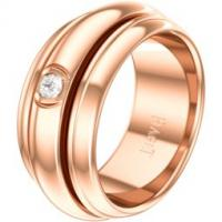 Rose gold diamond ring Band width: 8.9 mm