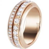 Rose gold diamond ring band width: 8mm