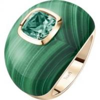 Rose gold malachite green tourmaline ring