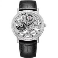 Ultra-thin watch automatic skeleton white gold diamonds 40 mm