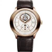 Tourbillon watch moon-phase indicator rose gold 43 mm