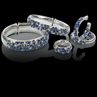 chimento white gold bracelet with diamonds and sapphires  & other