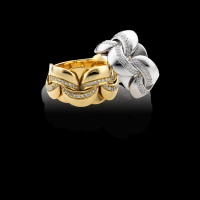 Chimento Yellow gold ring with diamonds  & other