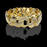 Chimento Yellow gold bracelet with diamonds  & other
