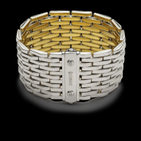 Chimento Yellow and white gold reversible bracelet  & other