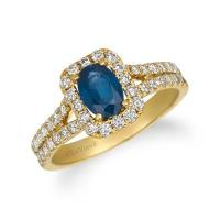 14K Honey Gold™ Blueberry Sapphire™ 3/4 cts. Ring with Nude Diamonds™ 3/4 cts.