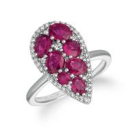 14K Vanilla Gold® Passion Ruby™ 2 cts. Ring with Vanilla Diamonds® 1/3 cts.