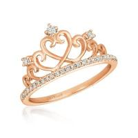 14K Strawberry Gold® Ring with Vanilla Diamonds® 1/6 cts.