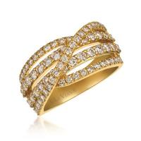 14k honey gold™ ring with nude diamonds™ 1  1/2 cts.