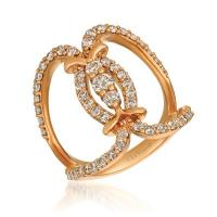 14k strawberry gold® ring with nude diamonds™ 1  1/3 cts.