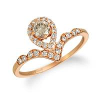 14k strawberry gold® ring with nude diamonds™ 1/2 cts.