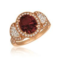 18k strawberry gold® passion ruby™ 3 cts. ring with vanilla diamonds® 1  1/2 cts.
